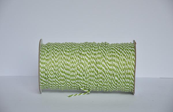 1.5MM白+绿二股棉扭绳