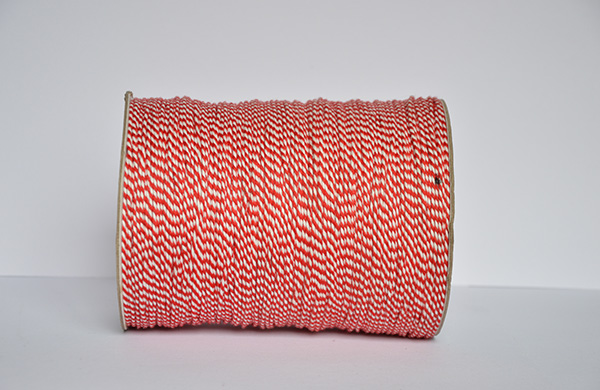 1.5MM红白二股棉扭绳