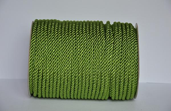 6MM绿色有光涤纶包芯扭绳