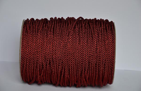 5MM红色有光涤纶扭绳