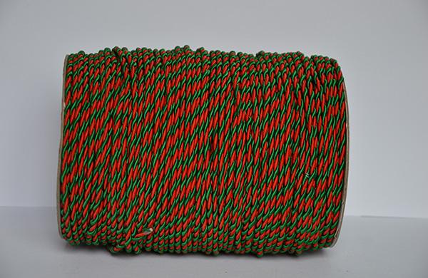6MM红+绿两股扭绳